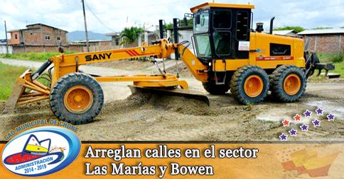 Arreglan calles en el sector Las Marías y Bowen