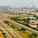 Two CRH EMU trains meeting near Chengdu east station