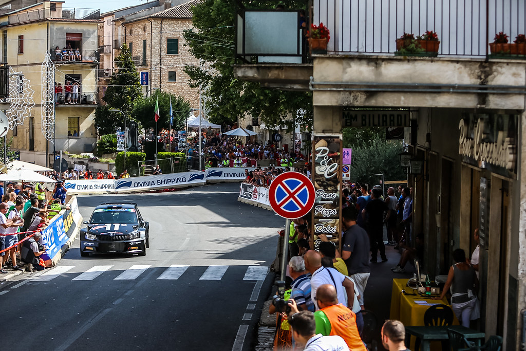 11 Chris Ingram (GBR), Ross Whittock (GBR), Toksport WRT, SKODA FABIA R5, action during the 2018 European Rally Championship ERC Rally di Roma Capitale,  from july 20 to 22 , at Fiuggi, Italia - Photo Thomas Fenetre / DPPI