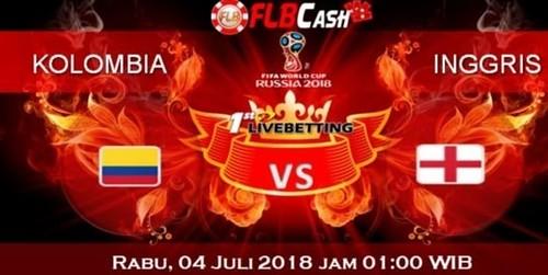 Prediksi Bola Piala Dunia – Kolombia vs Inggris, hari Rabu, 4 Juli 2018