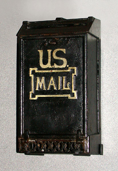 Typical home mailbox design of the early twentieth century.