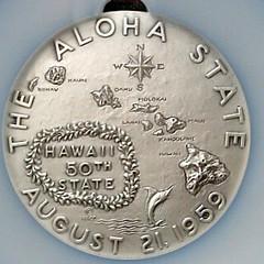 Silver Hawaii Statehood medal NIIHAU