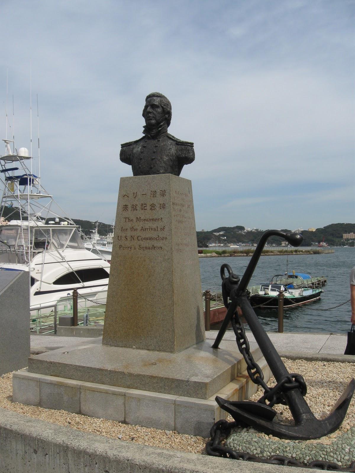 Bust of Commodore Matthew Perry, Shimoda, Shizuoka Prefecture, Japan. Photo taken on September 24, 2011.