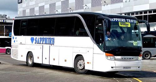 BK08 XYH 'Sapphire Travel', Nuneaton. SETRA S415HD on Dennis Basford's railsroadsrunways.blogspot.co.uk'
