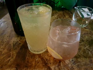 Ginger Kombucha and Lemonade at Greenhouse South Brisbane