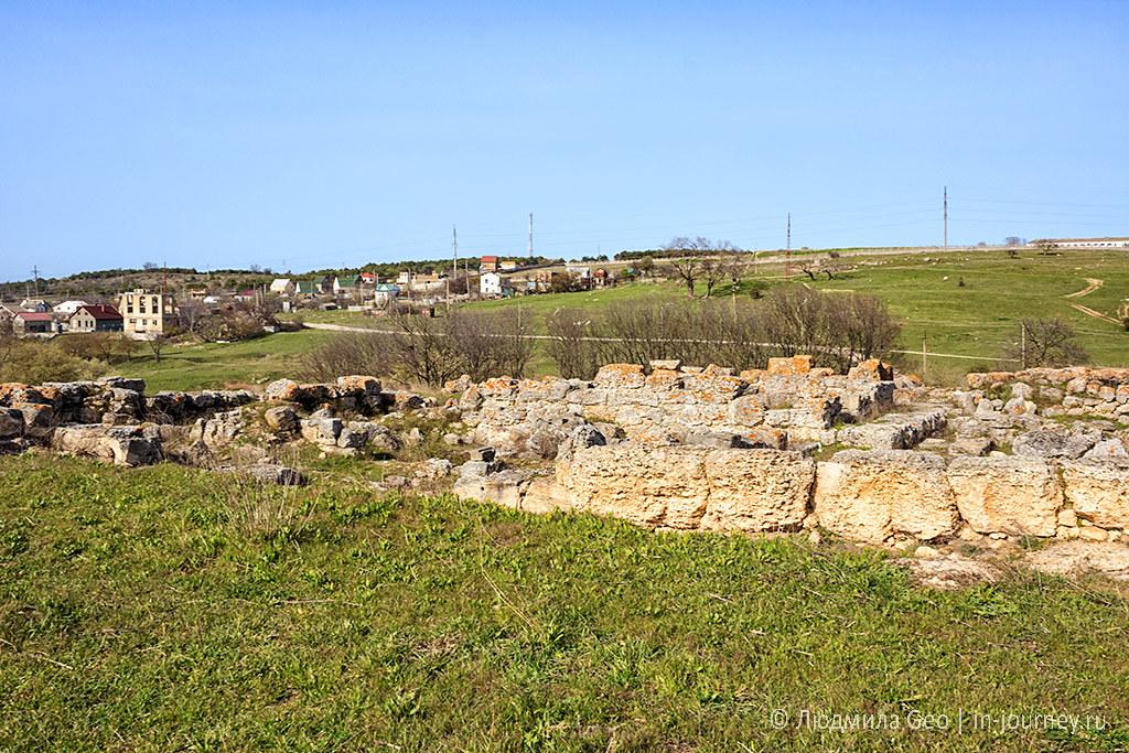 остатки античной деревни в Крыму