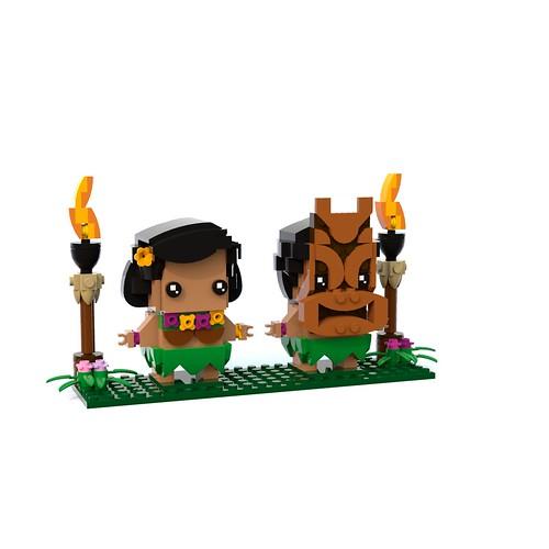 Hula and Tiki BrickHeadz