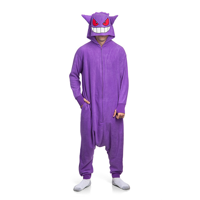 衝擊性的新設計??! 我認識的耿鬼哪有這麼瘦啦~ ThinkGeek《精靈寶可夢》耿鬼布偶睡衣 Pokémon Gengar Kigurumi 着ぐるみ