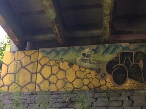 underpass on Northampton MA bike trail