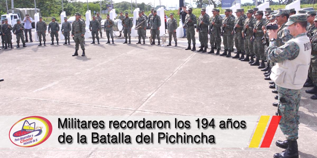 Militares recordaron los 194 años de la Batalla del Pichincha