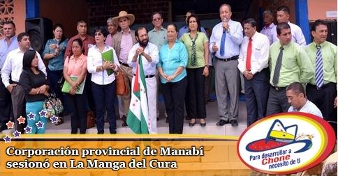 Corporación provincial de Manabí sesionó en La Manga del Cura