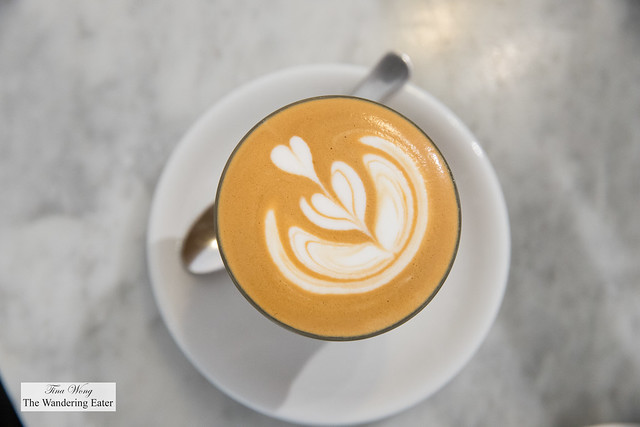 The Magic - hybrid of the cortado without the cream or any sweetner and it's so smooth to drink