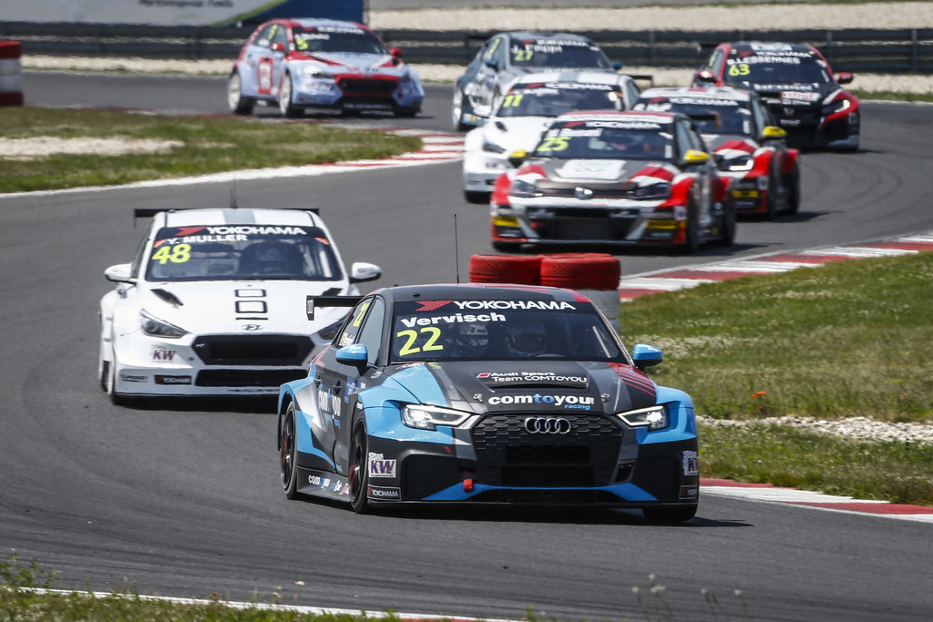 22 VERVISCH Frederic, (bel), Audi RS3 LMS TCR team Comtoyou Racing, action during the 2018 FIA WTCR World Touring Car cup race of Slovakia at Slovakia Ring, from july 13 to 15 - Photo François Flamand / DPPI.