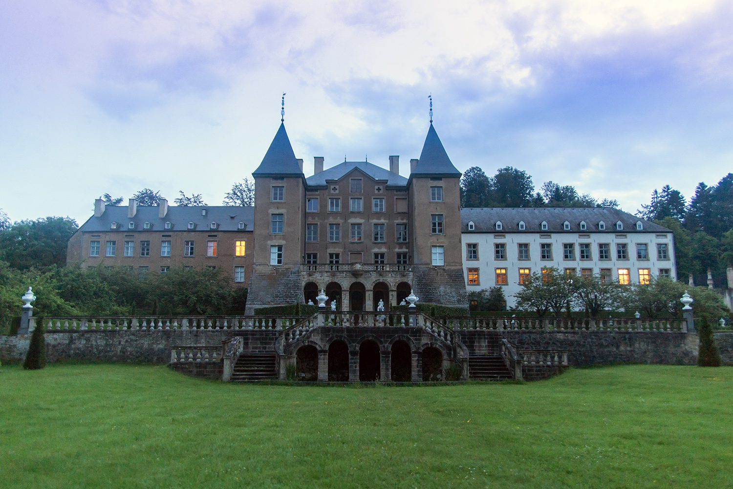 New Ansembourg Castle by Luxembourg. Photo taken by Vio Dudau on June 7, 2016.