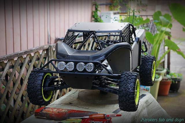 UTV style cage for Losi 5iVe-t /Hybrid / RCmax engines.