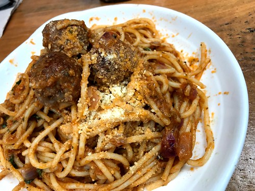 meatball spaghetti at Lutong Pugon