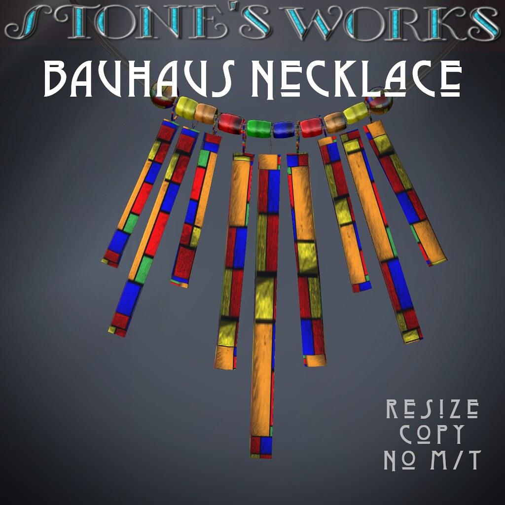 Bauhaus Necklace Stone's Works - TeleportHub.com Live!