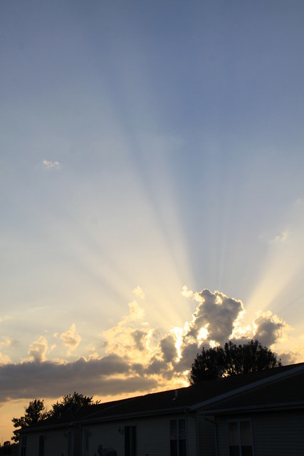 Sky Sunset Rays