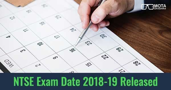 ntse exam dates 2018 19 released