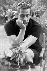 Canon EOS 60D - Black & White Portrait - My Brother Stuart - 'The Thinker'