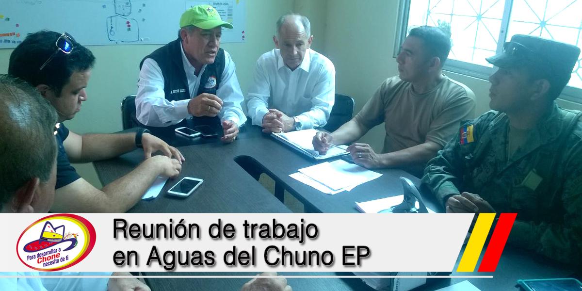 Reunión de trabajo en Aguas del Chuno EP