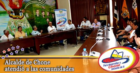Alcalde de Chone atendió a las comunidades