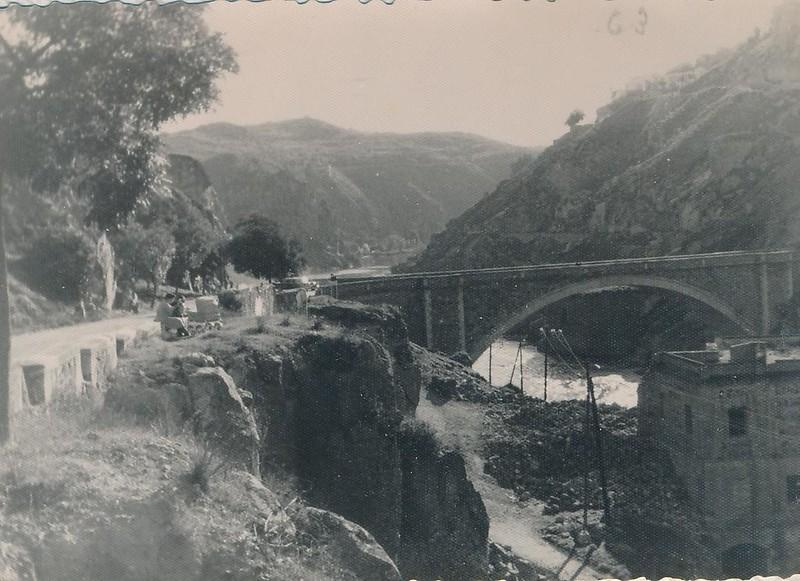 Puente Nuevo de Alcántara en 1962. Fotografía de Julián C.T.