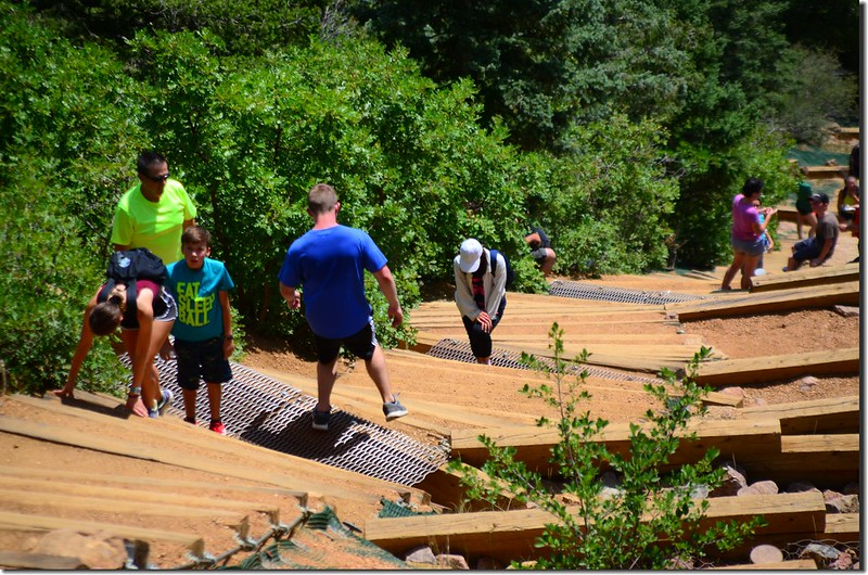 Hikers climbing up the Manitou Incline in Manitou Springs (5)