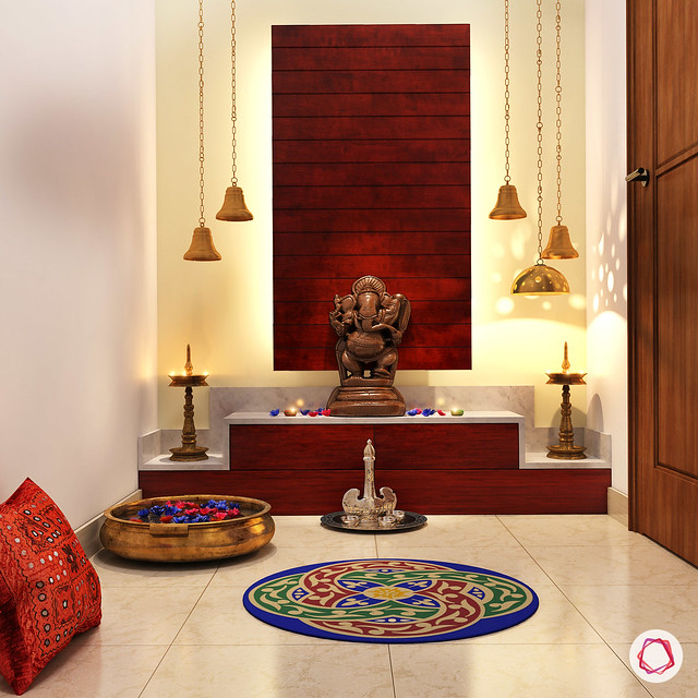 11 pooja room designs for small apartments dress your home best interior design blog home for Design of mandir in living room