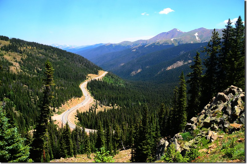 Looking down at US 40 from Berthoud Pass Ditch trail (3)