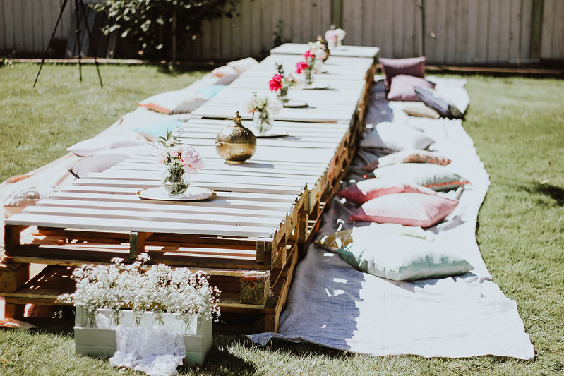 backyard bridal shower - boho bridal shower