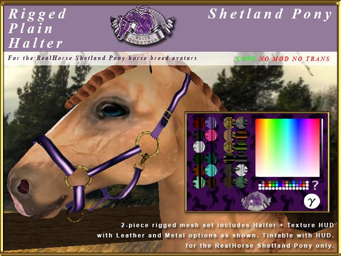 E-RH-Shetland-RiggedPlainHalterSet - TeleportHub.com Live!