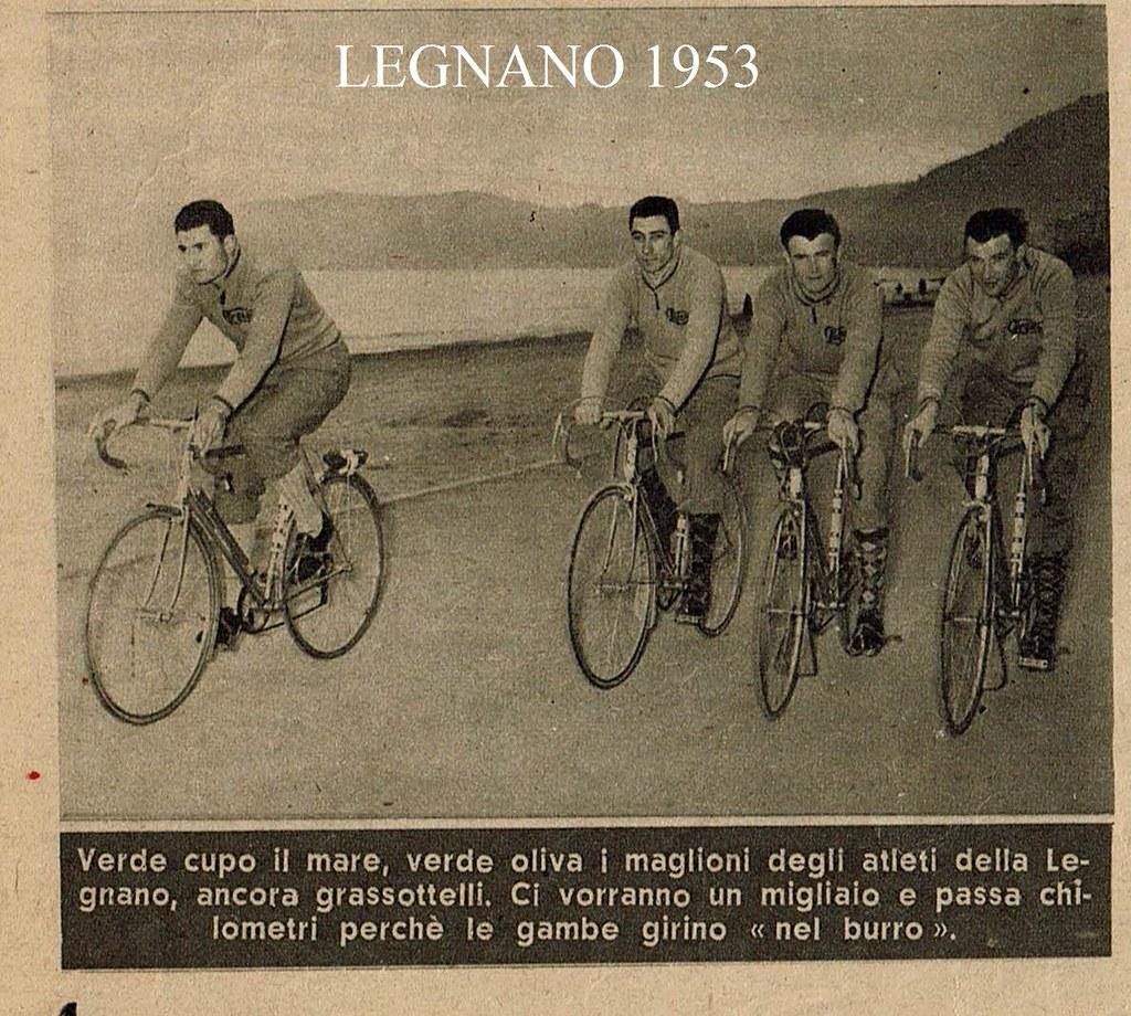 Legnano 1953 in allenamento (foto inviata dal figlio Marco)