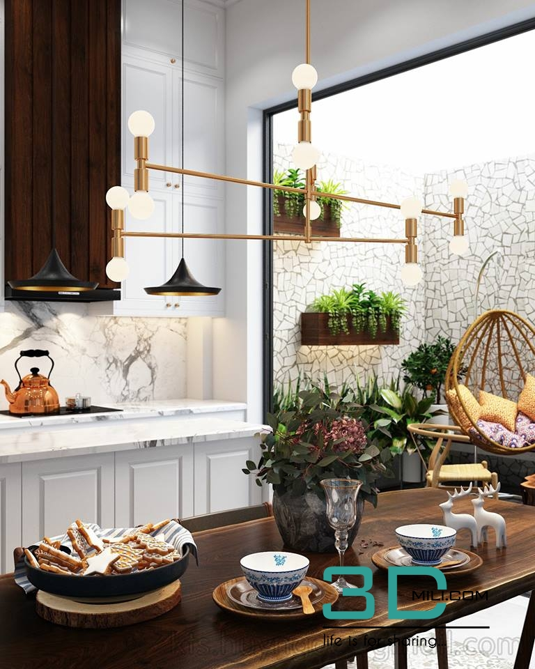 12 kitchen and dining room 3dmax free download 3d mili download