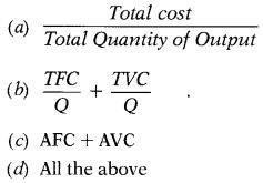 CA Foundation Business Economics Study Material Chapter 3 Theory Of Production and Cost - MCQs 293