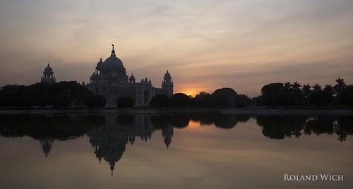 india indien inde west bengal kolkata calcutta monument sunset queen victoria memorial