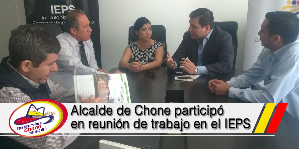 Alcalde de Chone participó en reunión de trabajo en el IEPS
