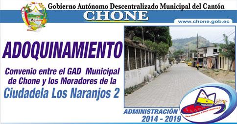 Adoquinado en calles de Chone con participación ciudadana