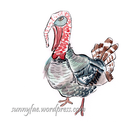 Turkey-Sketch-Side-View