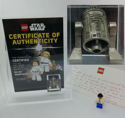 Winner Found - Rare Lego 18K White Gold Exclusive Black Friday R2-D2 Minifigure