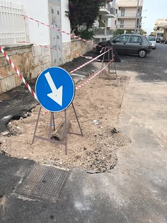 Via Lepore - asfalto rifatto due volte