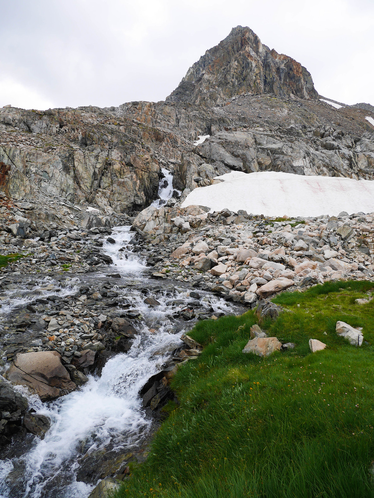 Waterfall below Muir Pass