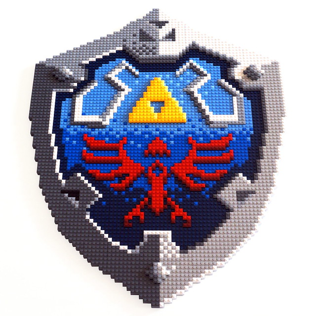 the legend of Zelda - hyrule shield mosaic