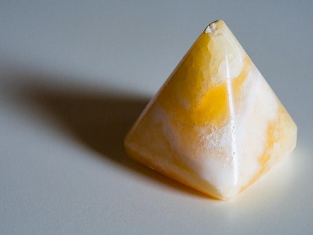 An onyx pyramid