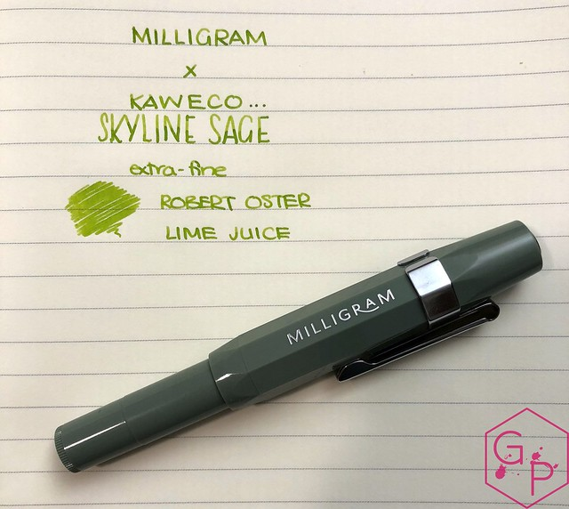 Kaweco x Milligram Skyline Sage Fountain Pen Review @Kaweco_Germany @MilligramStore 18