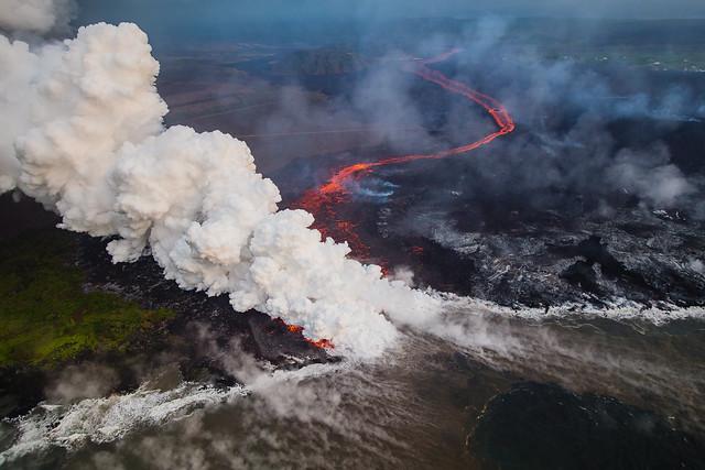 Hawaii Kilauea Volcano Lava Ocean Entry Laze 3