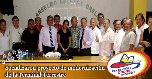 Socializaron proyecto de modernización de la Terminal Terrestre