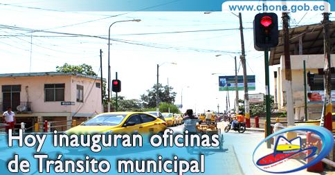 Hoy inauguran oficinas de Tránsito municipal