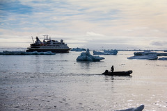 Our Ship Sits Offshore at Brown Bluff, Antarctica