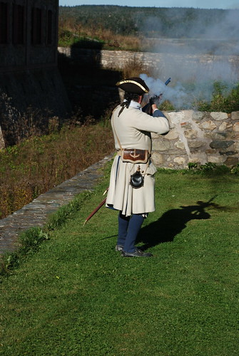 Re-enactor at Louisbourg Fortress. From History Comes Alive in Sydney, Nova Scotia